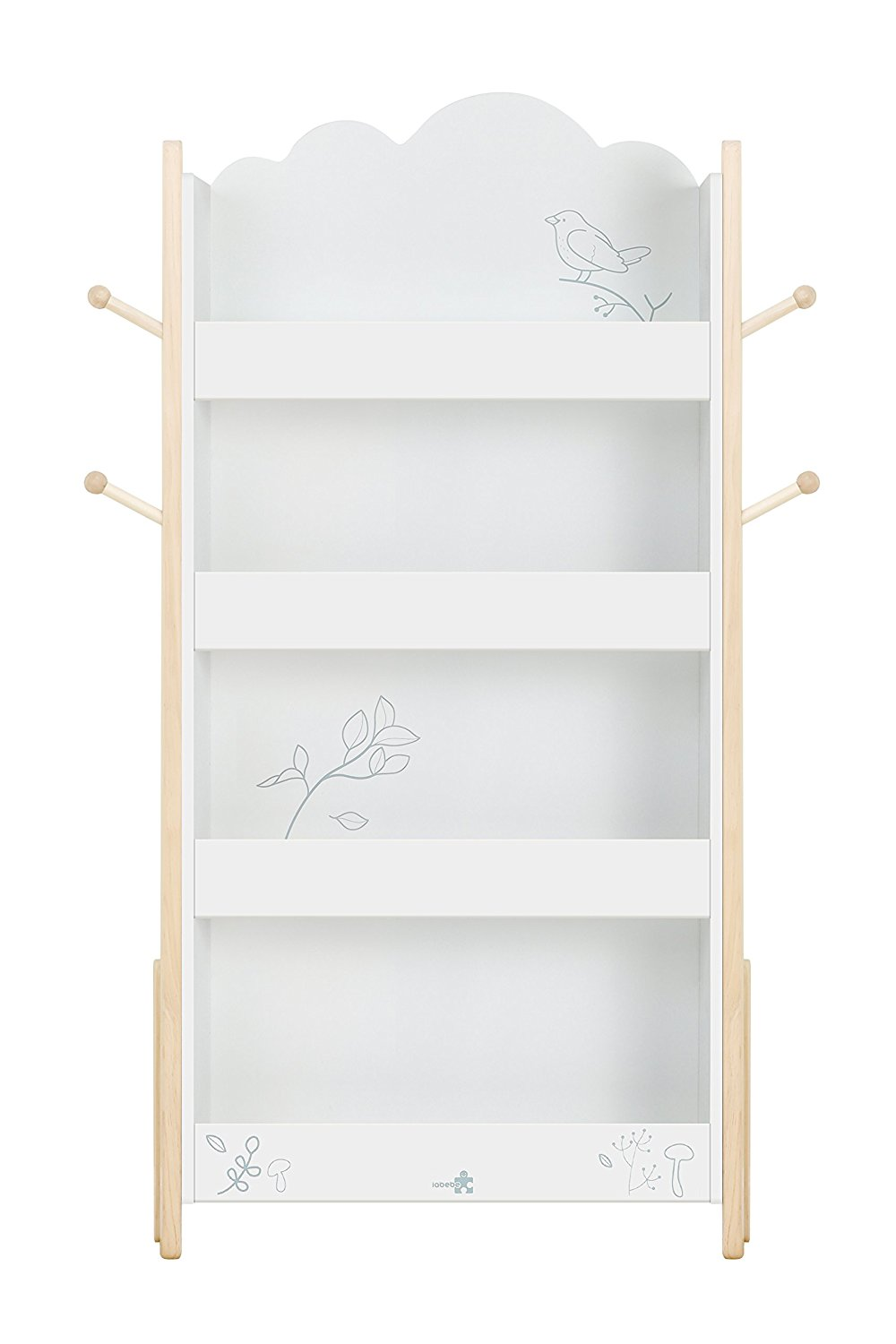 labebe Kid Book Display, Wood White Bookshelf Kid 1 Year Up